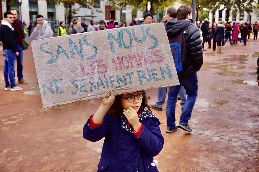 Manifestation contre les violences sexuelles et sexistes faites aux femmes à Lyon