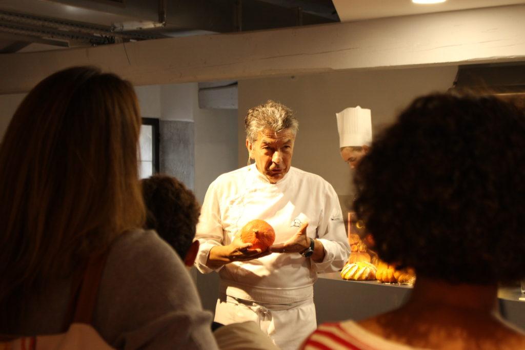 Cité de la gastronomie de Lyon : le chef étoilé Régis Marcon inaugure les casseroles