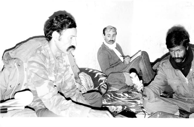 Jean-François Richard en reportage dans le Sahara, 1985